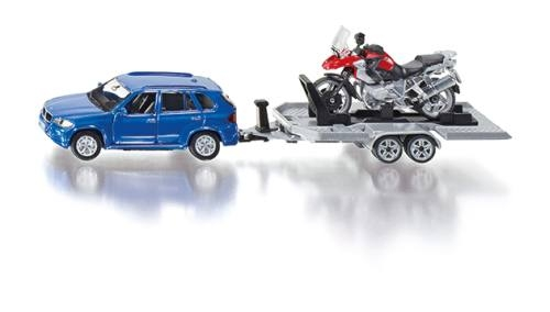 Siku 2547 PKW mit Anhänger und Motorrad
