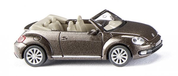 Wiking 002802 VW The Beetle Cabrio - toffeebraun met