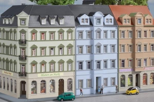 Auhagen 11447 NEU in OVP H0 Bausatz Eckhaus Schmidtstraße 10