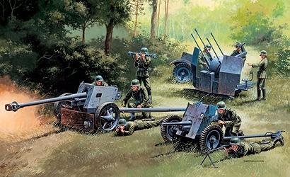 Italeri 510007026 1:72 German Guns Set: PAK35-PAK40-FLAK38