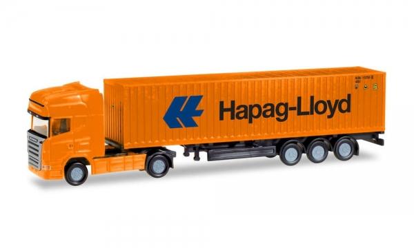 """Herpa 066723 N Scania R TL Container-Sattelzug """"Hapag Lloyd"""""""