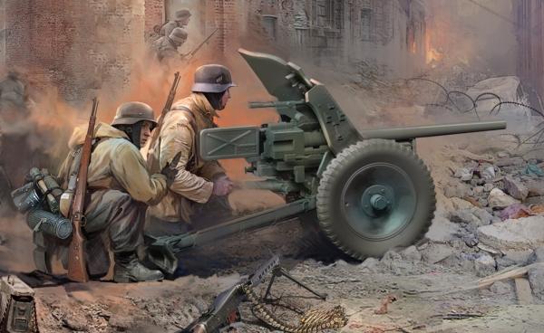Zvezda 6114 1:72 WWII Deutsche Pak-36 mit Truppe