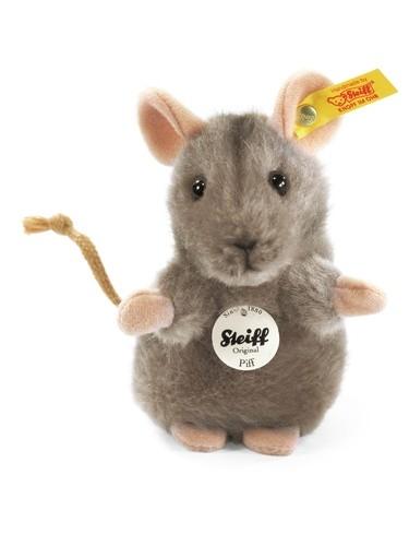 Steiff 056222 Piff Maus 10 grau aufwartend