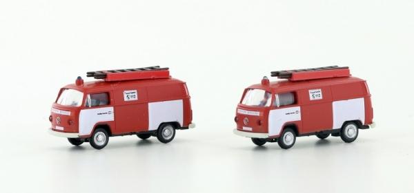 Lemke Minis LC3880 VW Bus T2 2er Set Feuerwehr N