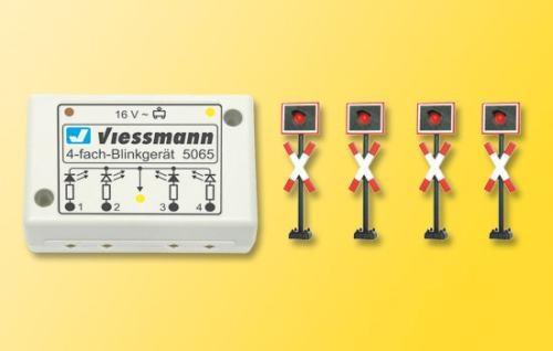 Viessmann 5835 H0 Andreaskreuze,4 St.+Blinke