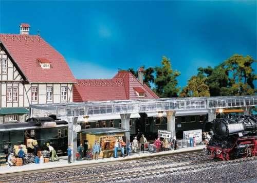 Faller 120188 Bahnsteig mit Kiosk
