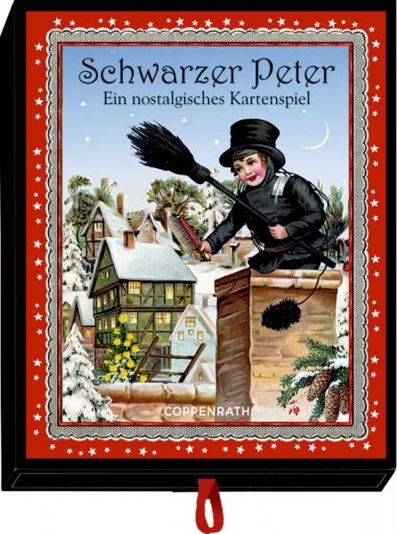 Coppenrath Verlag 92693 Schwarzer Peter - Nostalg.Kartenspiel, Adventsschachtelspiel