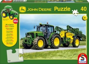 Schmidt 55625 Traktor 6630 mit Feldspritze, 40 Teile + SIKU Traktor