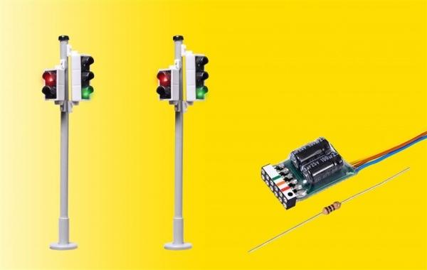 Viessmann 5095 H0 Verkehrsampel ,Fußgängerampel und LEDs, 2 Stück