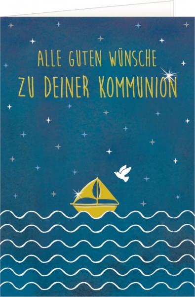 Coppenrath Verlag 92829 Grußkarte - Alle guten Wünsche zu deiner Kommunion