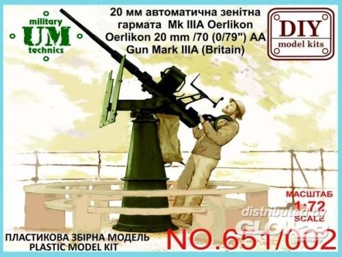 "Unimodels UMT651 Oerlikon 20mm/70 (0,79"")AA gu"