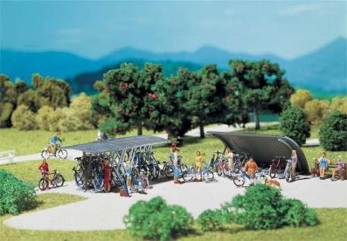 Faller 180584 2 Fahrradständer mit Rädern