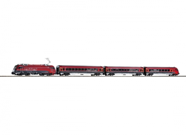 Piko 58132 ~Zugset Railjet Rh 1216 + 3 Wagen ÖBB