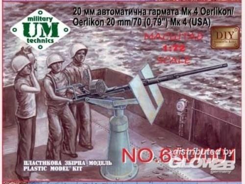"""Unimodels UMT650 Oerlikon 20 mm/70 (0,79"""")Mk4"""