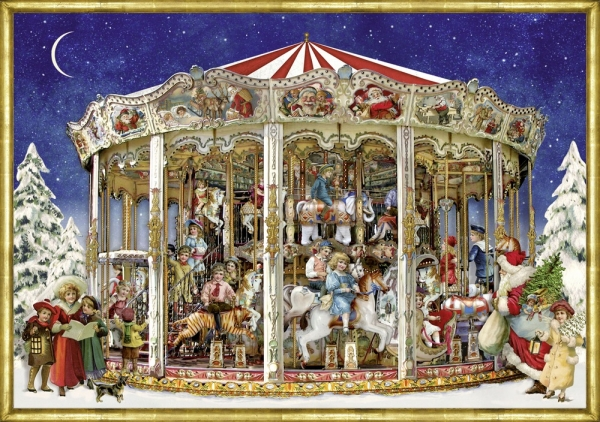 Coppenrath Verlag 71324 Nostalgisches Weihnachtskarussell, Adventskalender A4