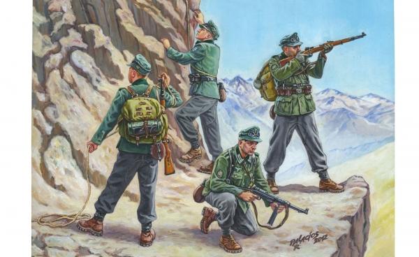 Zvezda 6154 WWII Wargame AOn Deutsche Gebirgsjäger