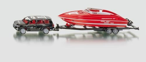 Siku 2543 PKW mit Motorboot