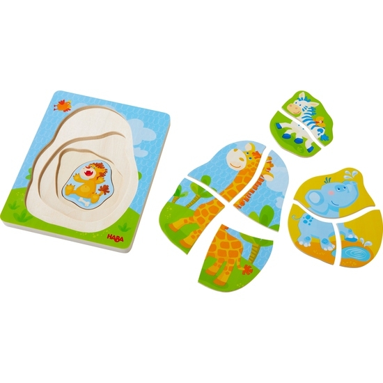 Haba 303382 Holzpuzzle Wildtiere