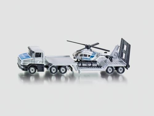 Siku 1610 Tieflader mit Hubschrauber