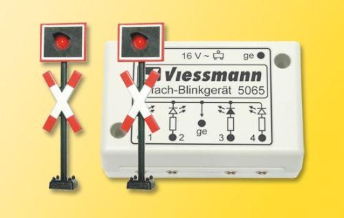 Viessmann 5060 H0 Andreaskreuze, 2 St+Blink.