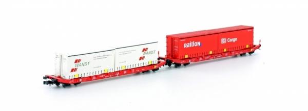 Hobbytrain H23765 2er Set Sgkkms 689 Jumbo DB Cargo/Wandt, Ep.VI