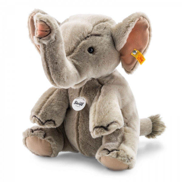 Steiff 64579 Hubert Elefant 30 grau sitzend