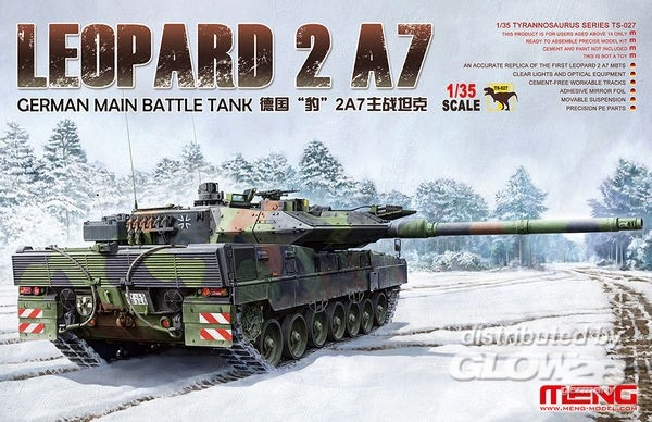 MENG TS-027 German Main Battle Tank Leopard 2 A7 1:35