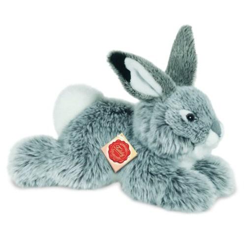 Hermann Teddy 93753 Hase liegend grau 28 cm