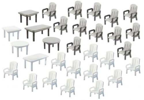 Faller 180439 24 Gartenstühle und 6 Tische