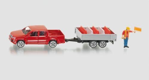 Siku 3543 Pick-Up mit Kippanhänger