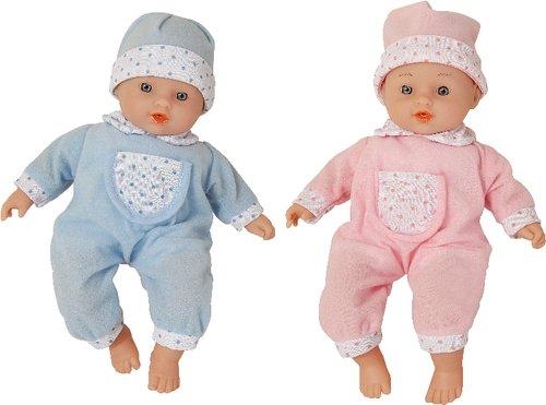 Vedes 50303985 Amia Puppe mit Mütze, sprechend, 28 cm, 2-fach sortiert