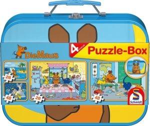Schmidt 55597 Die Maus, Puzzle-Box 2x26, 2x48 Teile